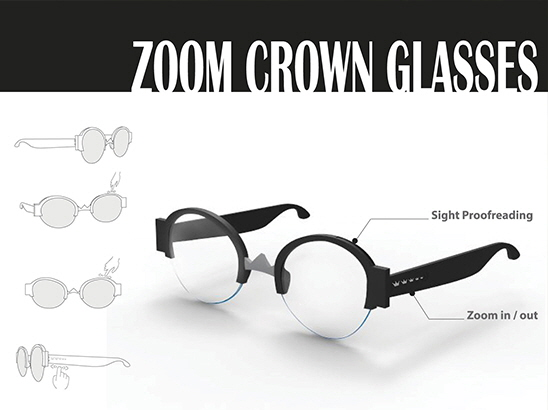 """<span>ZOOM CROWN GLASSES<strong class=""""author"""">이하늘, 장휘민, 박소현</strong> </span><i>→</i>"""